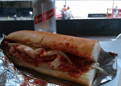 The Chicken Mama Mia sandwich at Crosby Connection, New York City