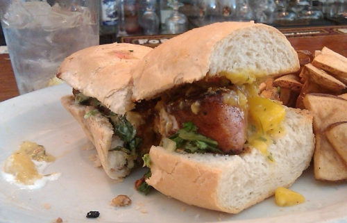 The tuna steak sandwich at Ramsi's Cafe in Louisville