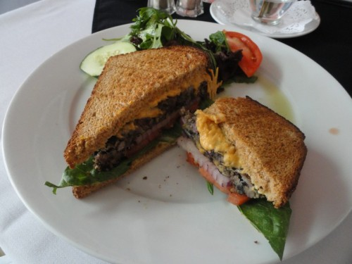 Black Bean Vegan Burger, Pizzazz Tuscan Grille