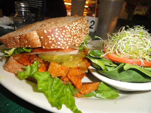 Mr. Natural's Veggie BBQ Sandwich