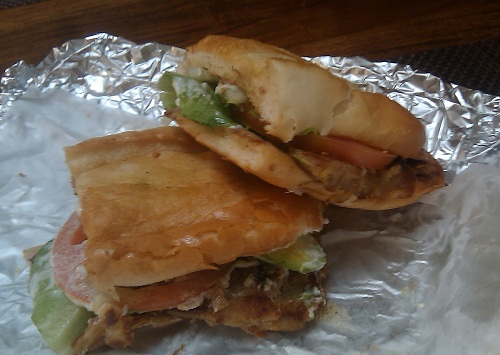 The torta milanesa at Adelita's Taqueria in San Jose