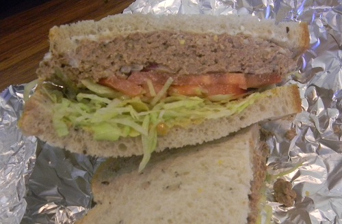 The Chopped Chicken Liver Sandwich at Gunther's Restaurant in San Jose, CA
