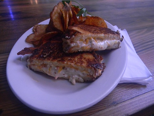 The lobster grilled cheese sandwich from LA Cafe in downtown Los Angeles.