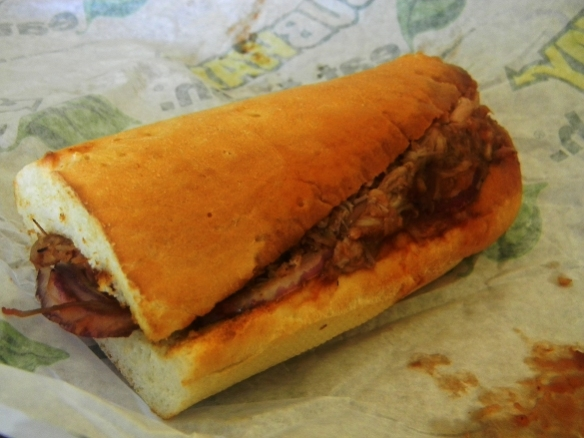 The pulled pork sandwich from Subway.